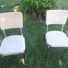 vintage vinyl metal aluminum chairs