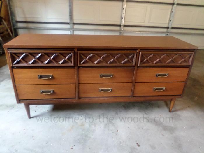 midcentury modern dresser redo