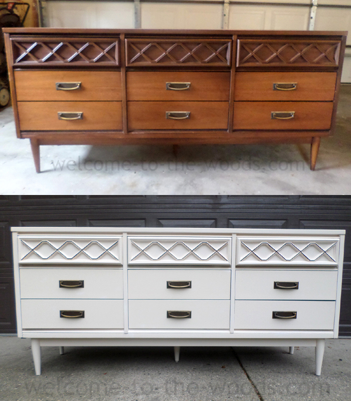 Before And After Furniture Transformation Of A Mid Century Modern Dresser  Buffet