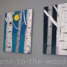 Birch tree artwork. Decorate your walls with timeless pieces to save money!