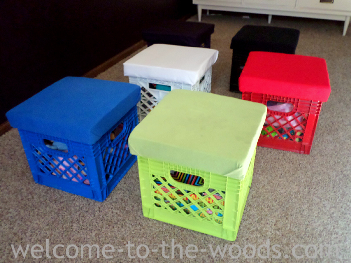 Turn Old Milk Crates Into The Perfect Diy Toy Storage And Seating For Your  Kidu0027s Play