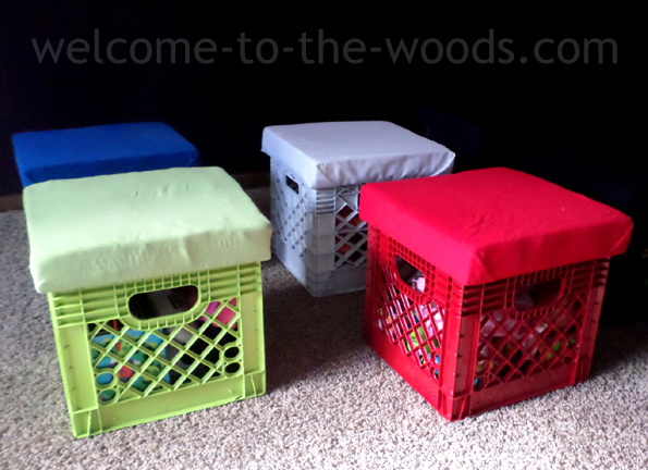 Astounding Diy Toy Storage In Crates Welcome To The Woods Onthecornerstone Fun Painted Chair Ideas Images Onthecornerstoneorg