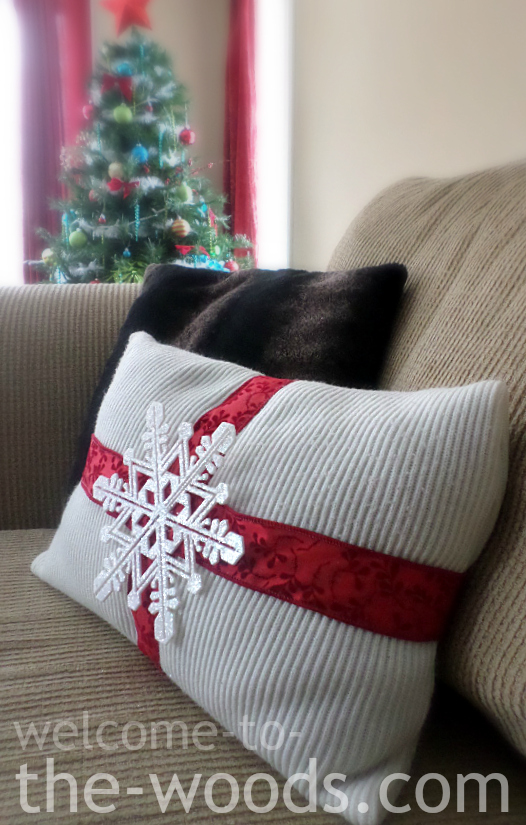 Diy Wool Pillow Case: Christmas DIY Pillow   Welcome to the Woods,