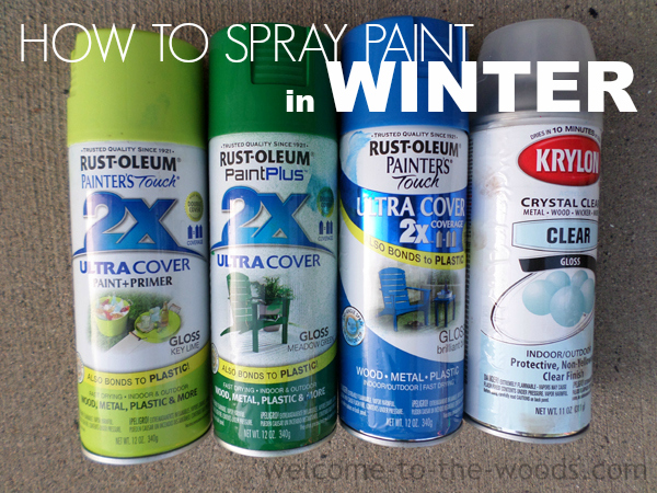 Spray Paint in Winter - welcome to the woods