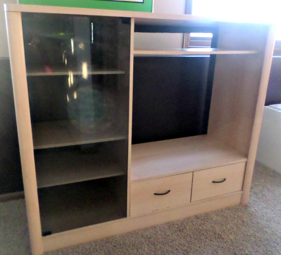 Entertainment Center to Closet Furniture Makeover