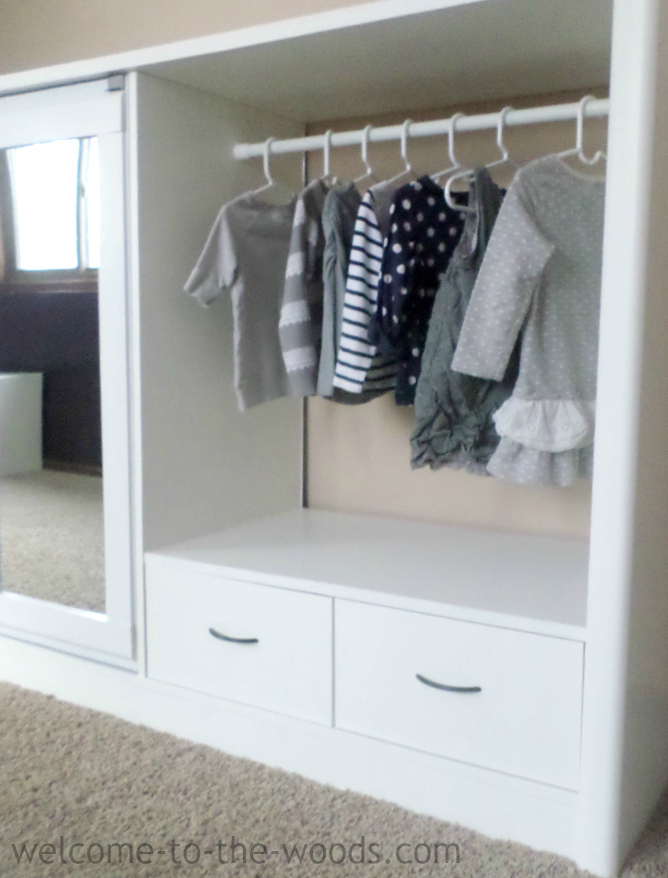 Entertainment center to closet makeover
