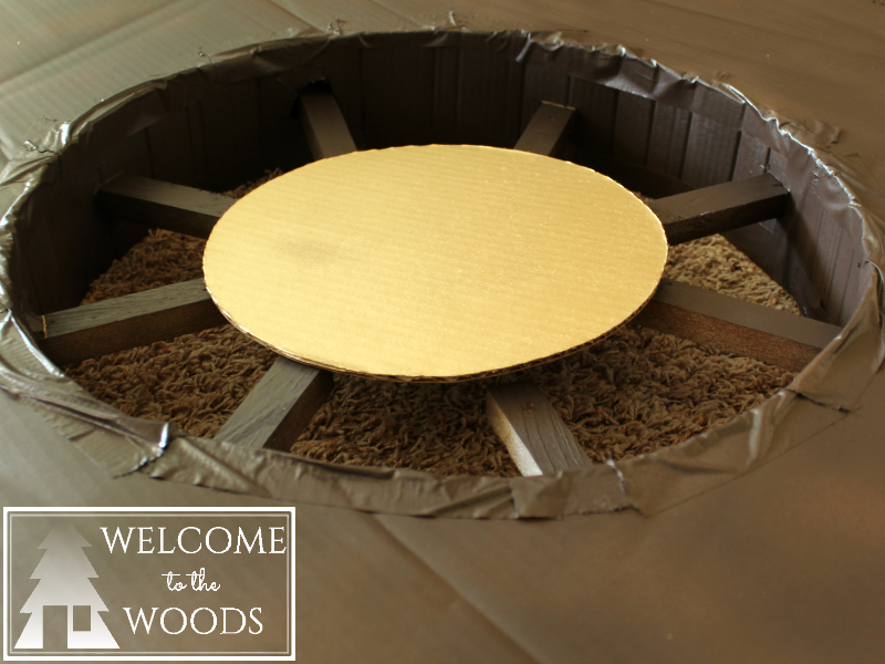 Cardboard Ship Wheel and Fake Portholes - Welcome to the Woods