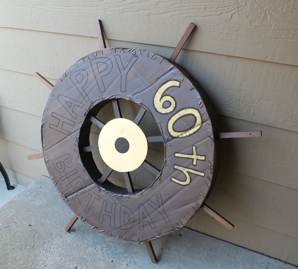 Cardboard Ship Wheel And Fake Portholes Welcome To The Woods