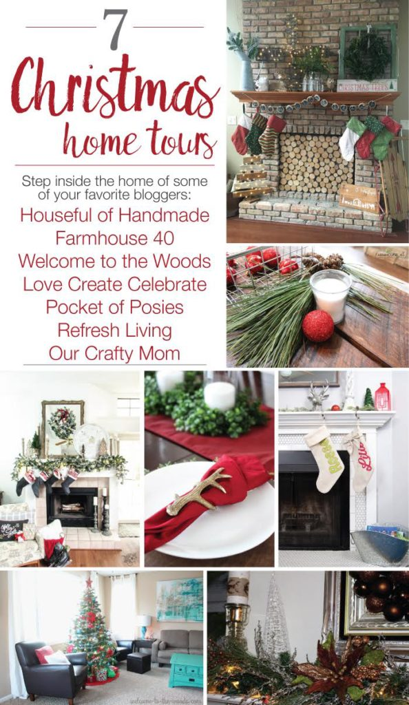 Step inside the home of some of your favorite bloggers all decorated for Christmas. These 7 homes are all decked out for the holidays and ready to show off. Lots of beautiful inspiration. Hosted by Housefulofhandmade.com