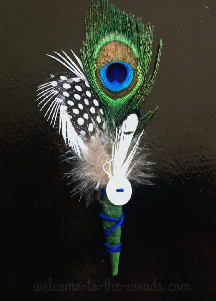 Think outside the norm and replace spendy flower boutonnieres with handmade feather pins that look so unique and beautiful!