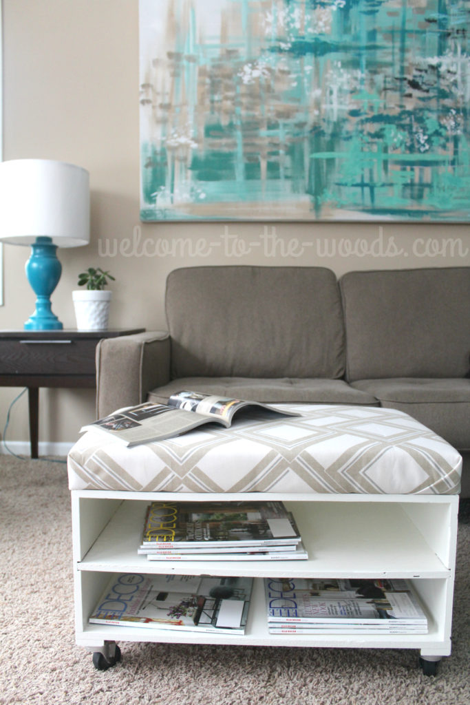Upholster a bench or ottoman the easy way! This photo tutorial will show you how.