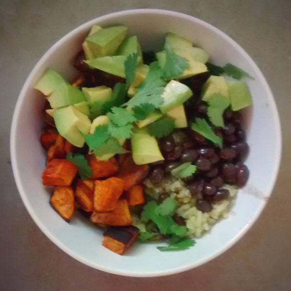Vegan burrito bowls and other vegetarian fare.