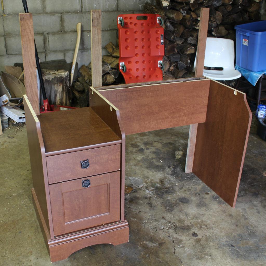 How to build a desk high as a reception desk.