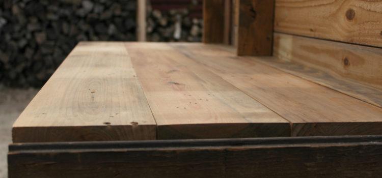 Reclaimed Barn Wood Reception Desk Redo