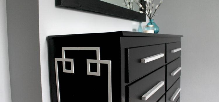 Black Modern Dresser Redo: Cut 'n Paste With O'verlays