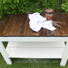 Farmhouse table custom handbuilt piece of furniture.