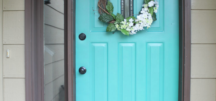 Front Door Refresh: Paint It Turquoise! Entryway Makeover Part 1