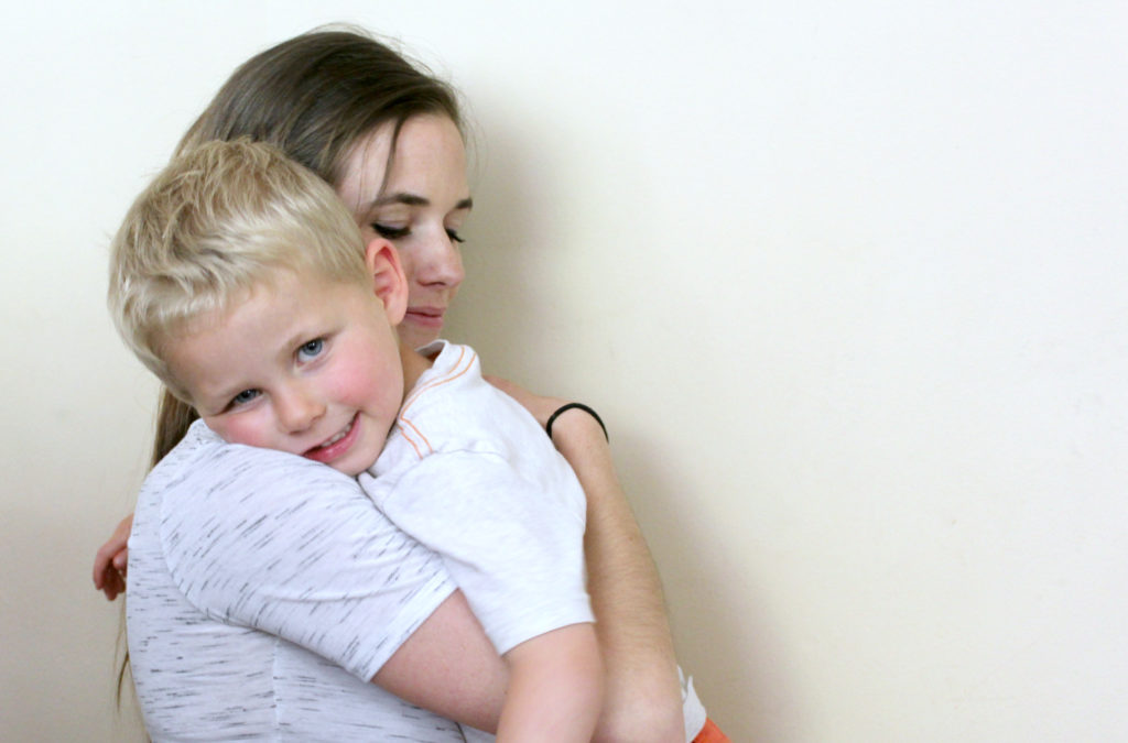 With a highly physical child, try offering a hug when the begin hitting. Sometimes it works to channel their physical reaction in a calm way instead of angry way!