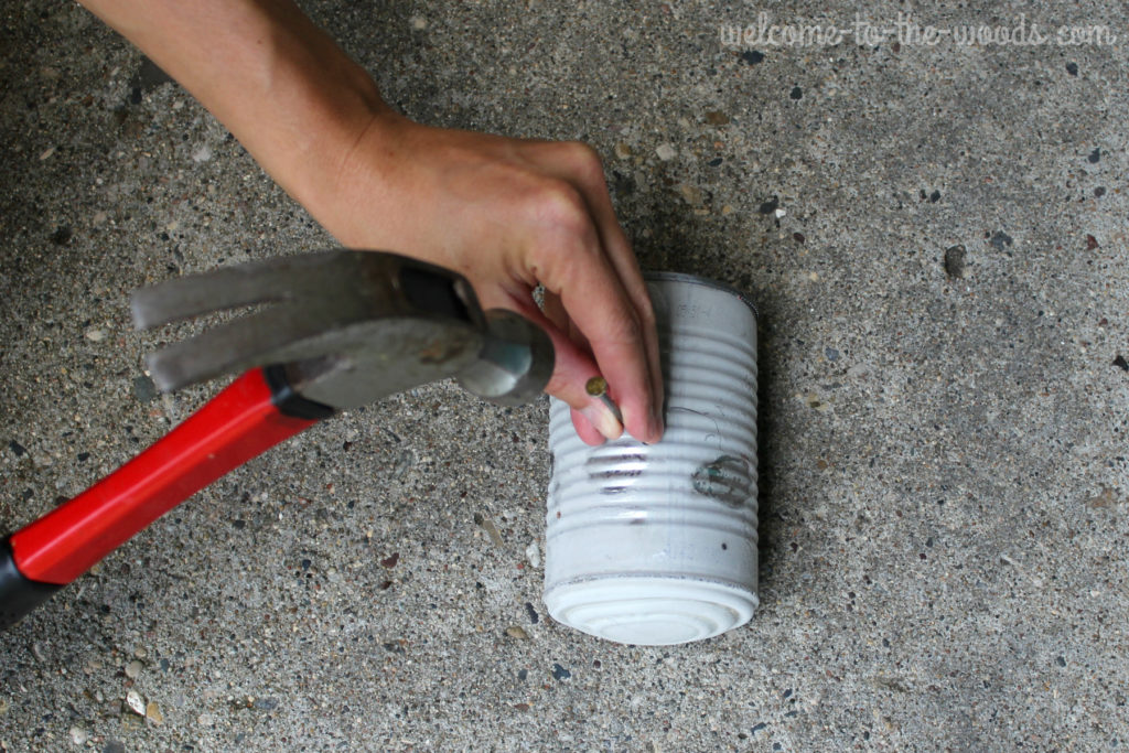 Using a hammer and nails, you can puncture holes into a tin can without denting it! Just read my secret...