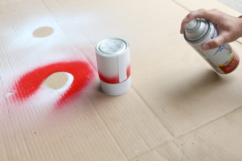 Spray painting techniques to get a clean cut off line.