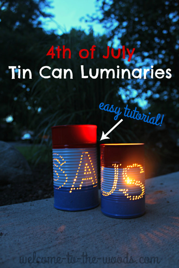Make these adorable candle holders for your patio party this Independence Day with your kids or grandkids - so easy!