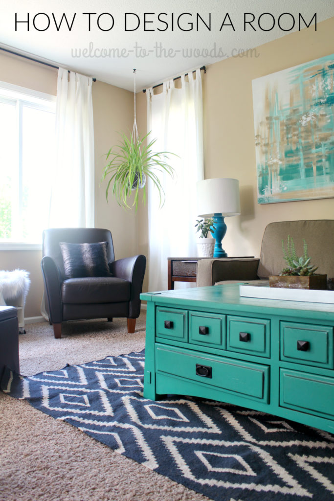 Learn how I put together this living room into a cohesive and beautiful design with step-by-step photos starting from a blank space.