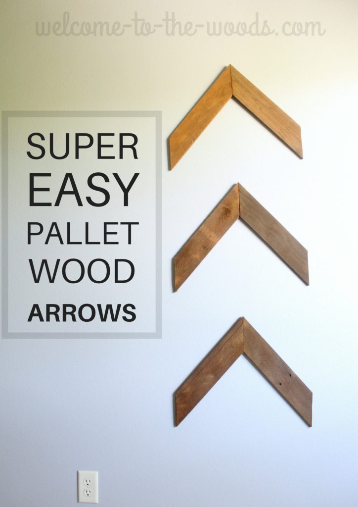 Super easy pallet wood arrows tutorial with photos and step by step instructions