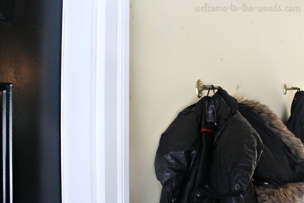 To make the entrance to your home inside your garage more functional, simply add hooks!