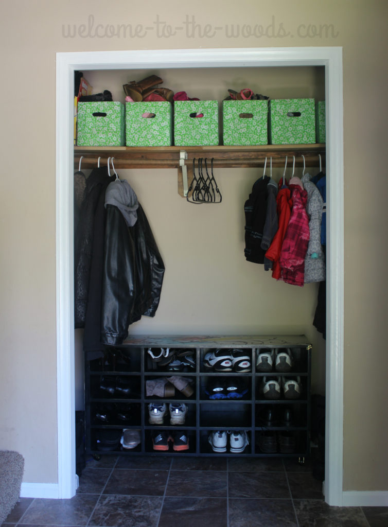 Removing your closet doors can actually open up a space and help you stay organized!
