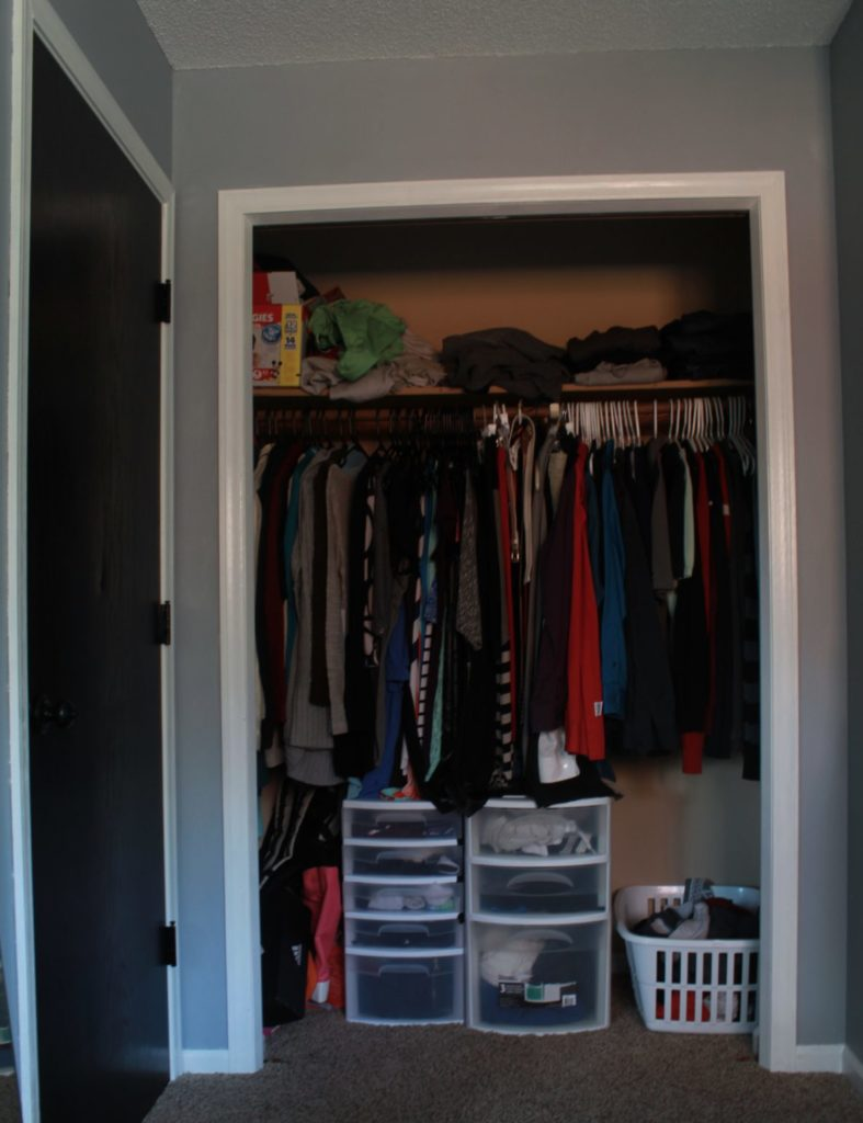 Organize your closet after removing the doors by implementing these three easy steps!