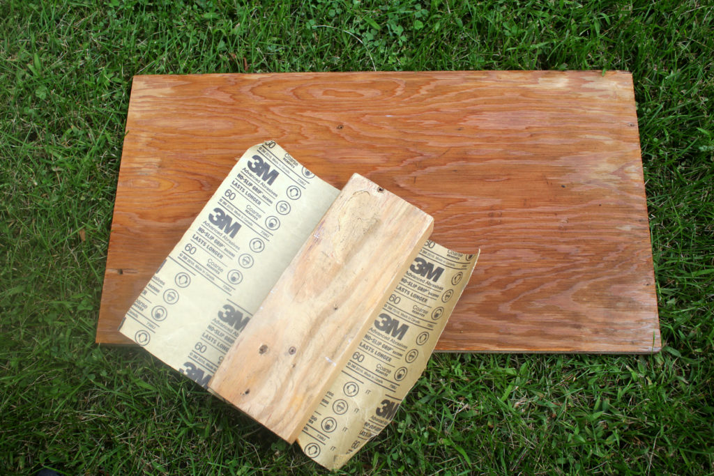 Sanding is an important step before staining or painting wood because it opens the pores of the wood to accept product.
