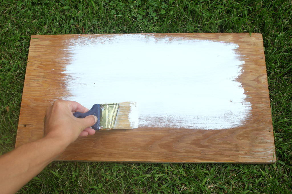 Painting wood signs is easy, no primer required because use will be light.