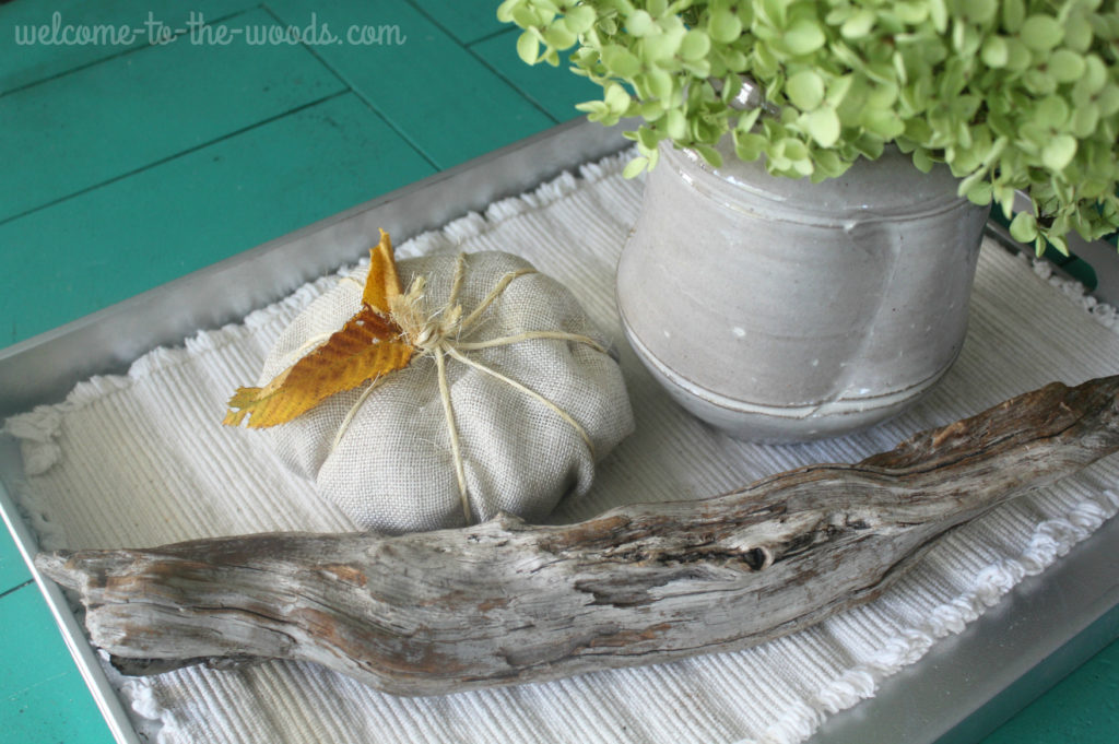 Fabric pumpkin fall craft tutorial