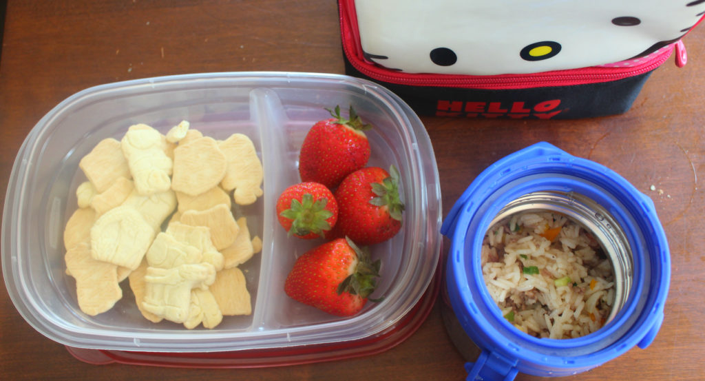 Storage options that have seperators and fit neatly inside your lunch box are important for school lunches
