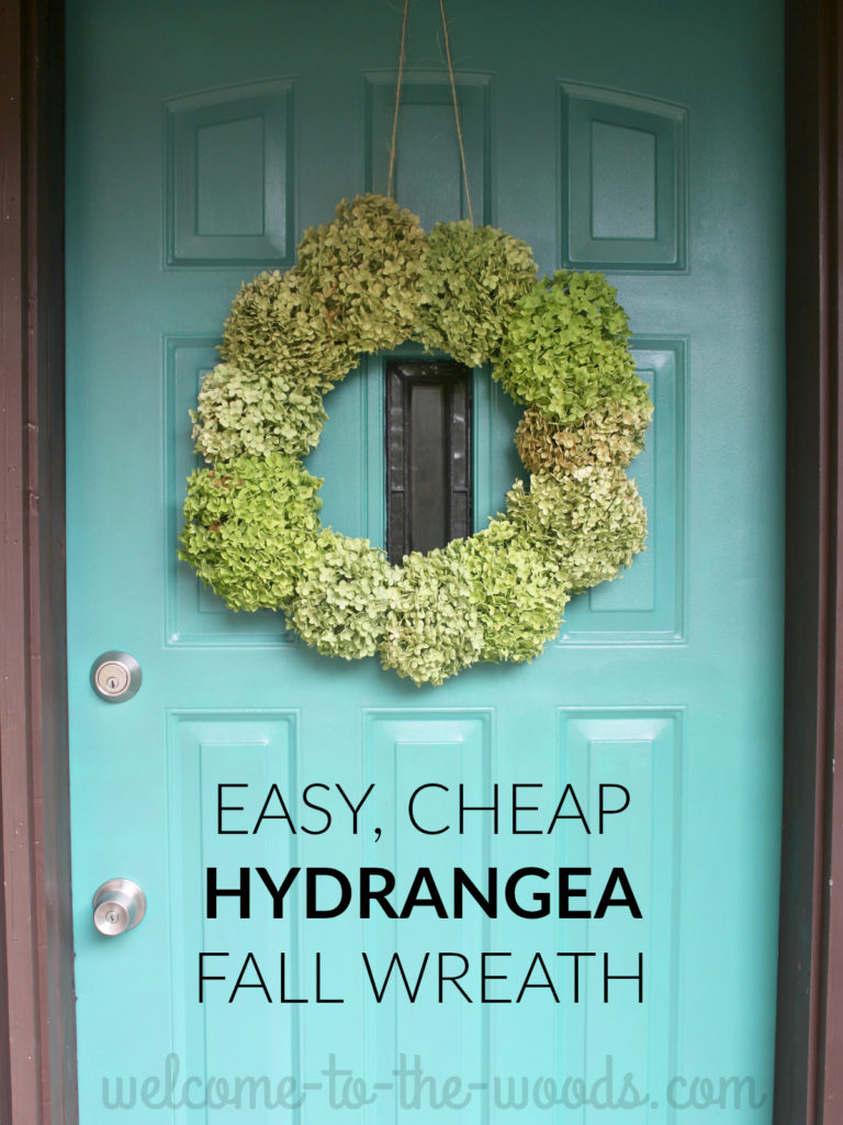 This tutorial create a hydrangea wreath from materials you already have in your home and cost next to nothing!