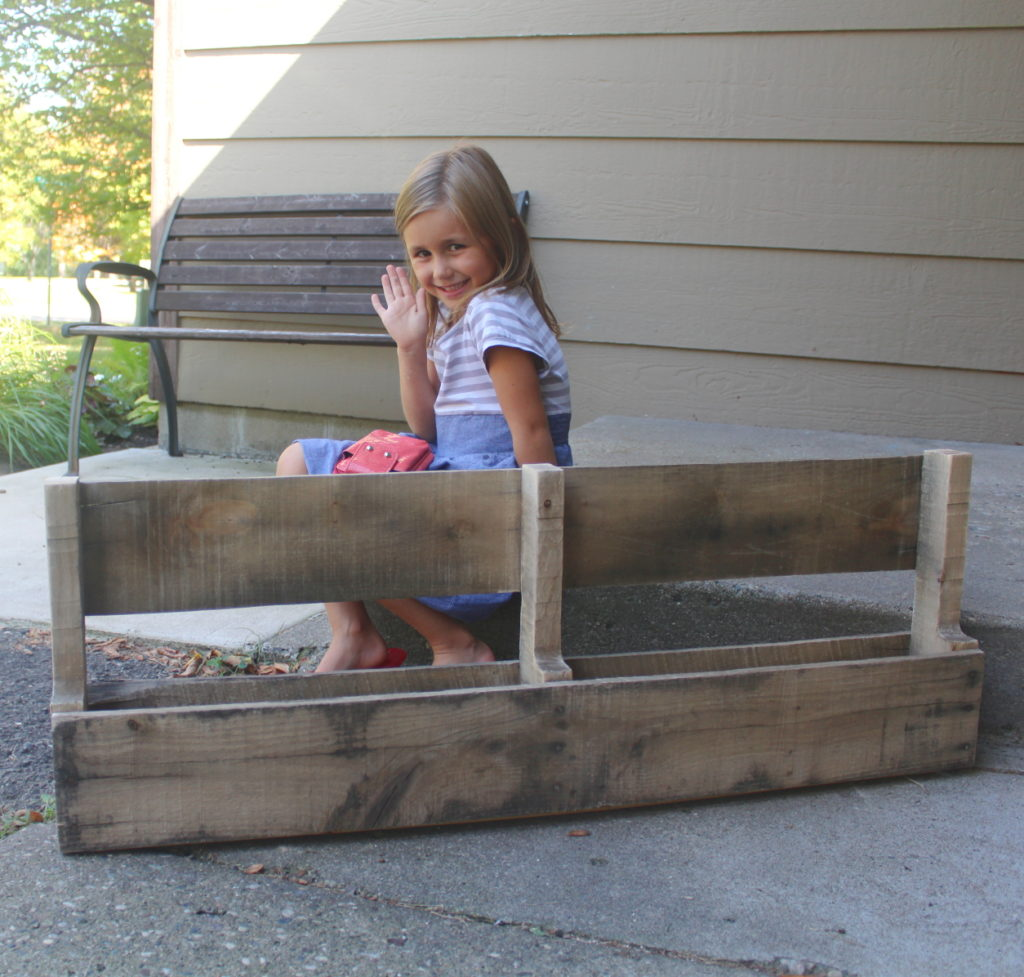 My daughter loves to help me build and work with pallets!