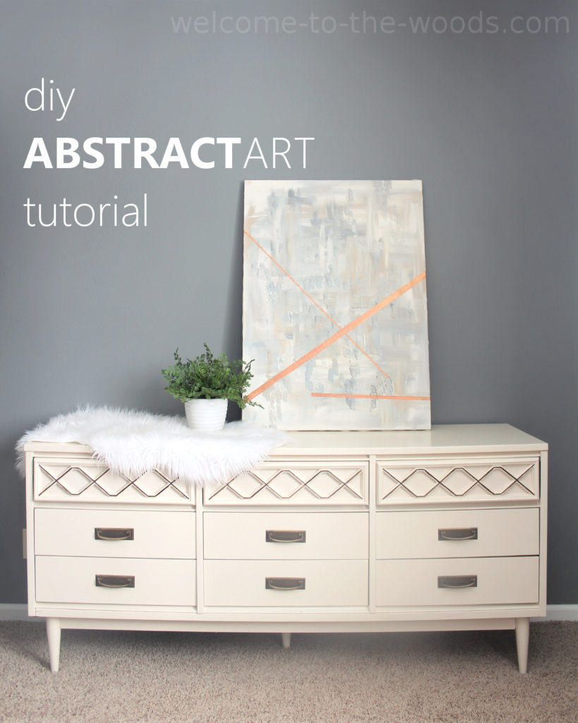 Abstract expressionism artwork paint this DIY decor for your home by viewing this video and photo tutorial