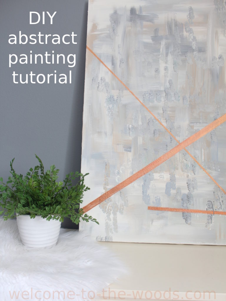 DIY abstract artwork tutorial with video and photos. Learn how to create expensive looking wall art for your home!