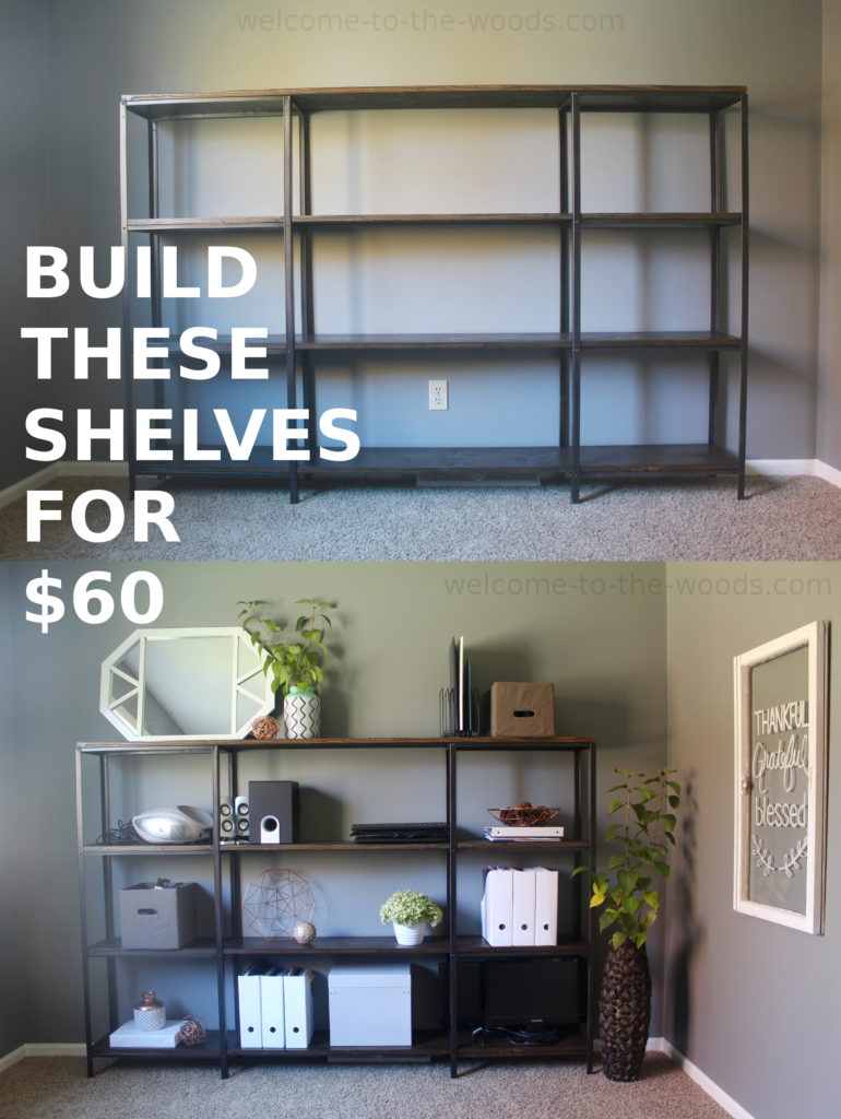CLICK to watch TIME LAPSE video of putting these shelves together!