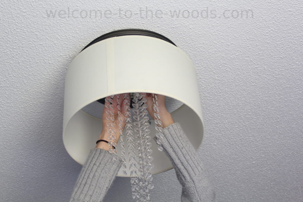 Diy drum chandelier tutorial office makeover orc welcome to the woods hanging diy drum chandelier this photo tutorial is awesome mozeypictures Images