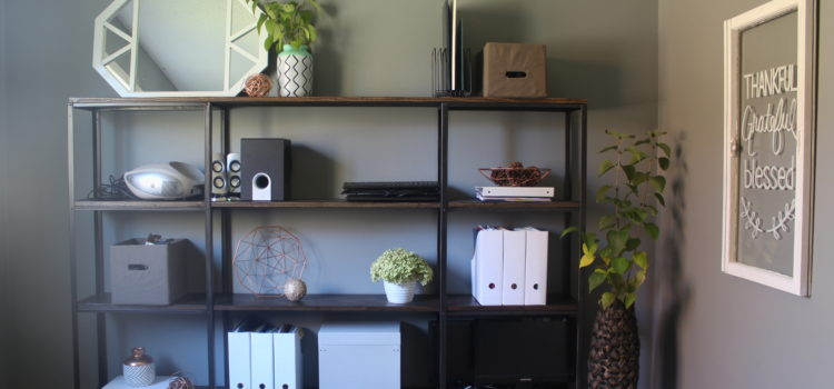 Modern Industrial Shelving For $60 Office Makeover ORC