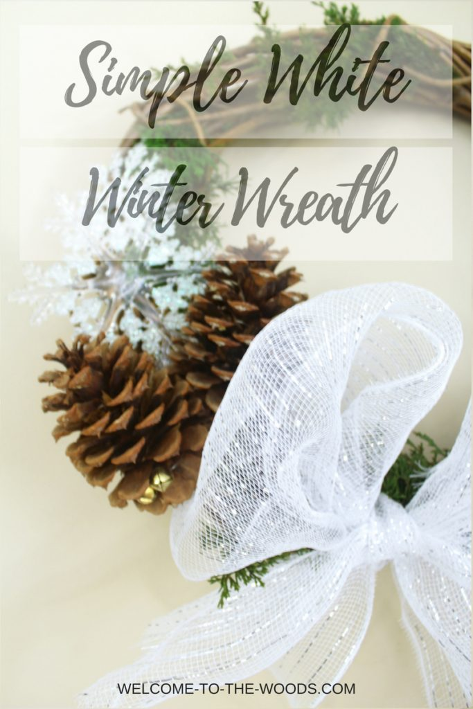 A neutral wreath you can put together in a half hour and you can enjoy the entire winter season!