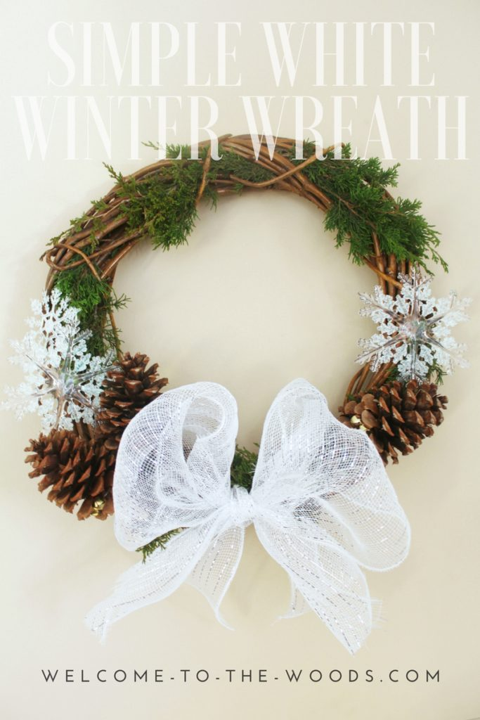 This diy video tutorial shows you how to put together a simple white Christmas wreath in minutes!