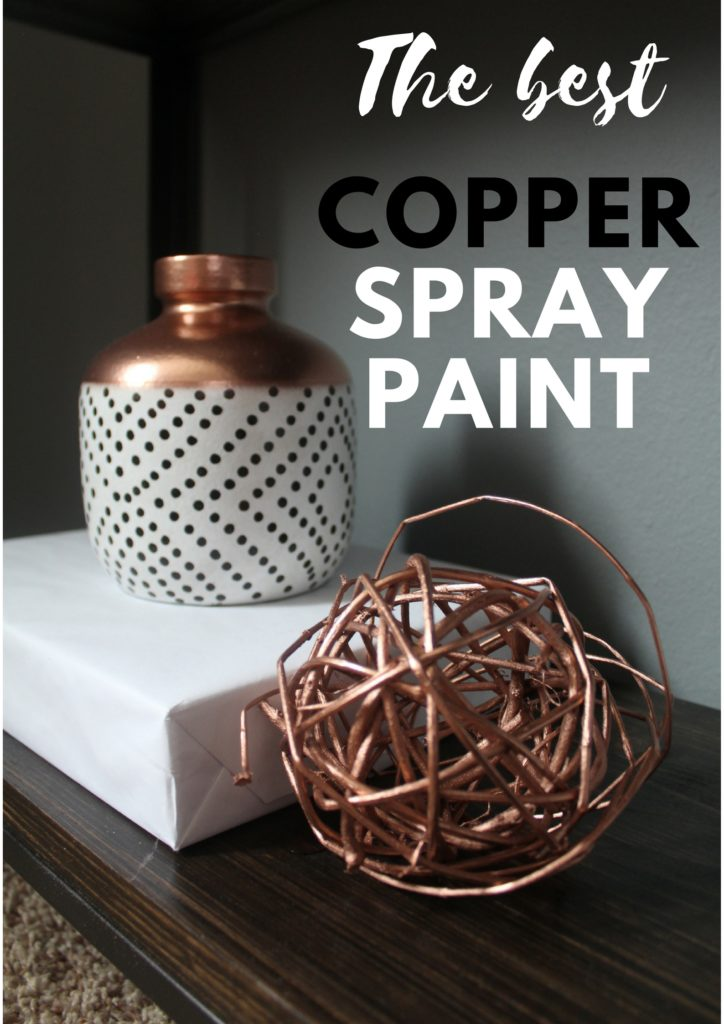 My favorite copper colored spray paint allowed me to create matching decor pieces for the office makeover ORC