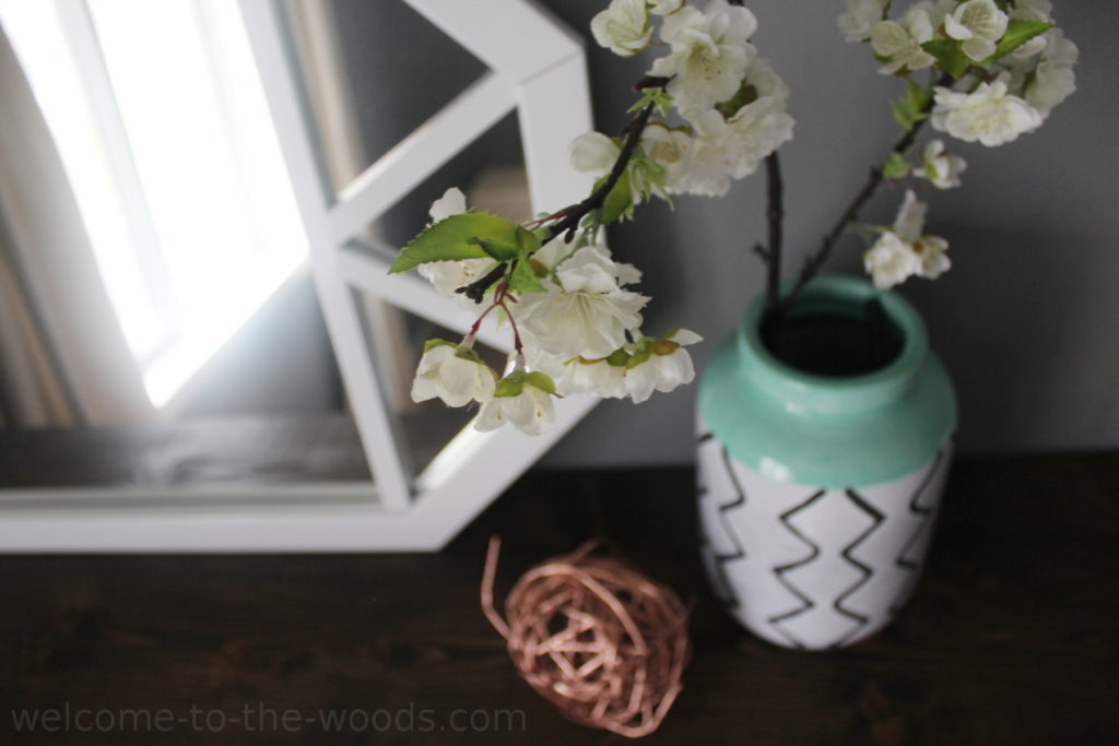 Decor details in the home office makeover
