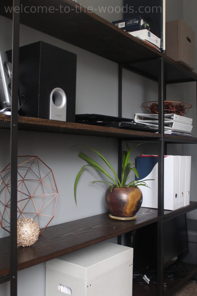 Industrial modern shelving build