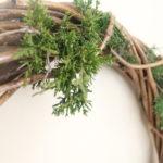 Simple White Christmas Wreath