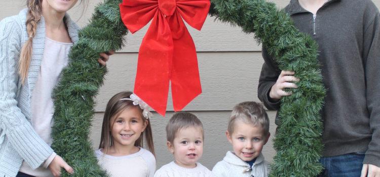 Giant Wreath Christmas Photo Prop
