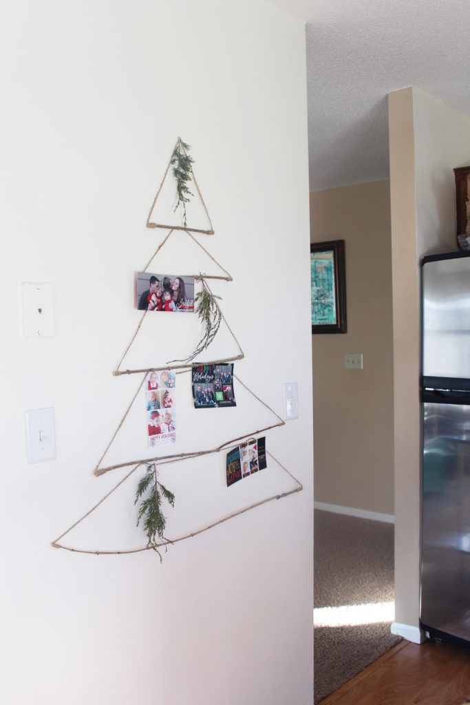 Merry Mail Tree Displaying Christmas Cards - Welcome to the Woods