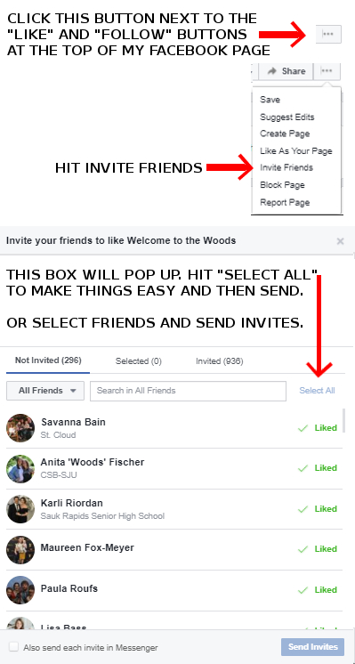 How to invite friends to like a Facebook page step by step instructions